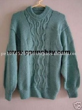 "Baby Alpaca Crew Neck Sweater 100% Handmade ""M"" Peru"