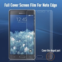 Install so easy full size screen protector for Samsung Galaxy note Edge screen guard high clear