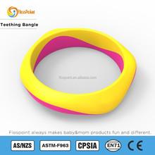 Children Bracelet Wholesale, Silicone Bangle Teething, Silicone Beads Bracelet Bpa Free, Soothing Teething Pain