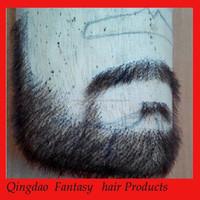 Man made beard mustache growing product fake beard