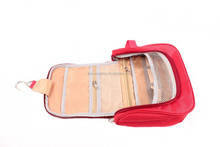 womens fashion travel hanging toiletry bag,foldable cosmetic bag