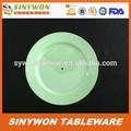 ronda de plástico barato de melamina de color de la placa