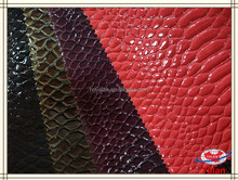 Fashion red python skin bags synthetic pu leather fabric