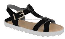 2015 summer new model lady beautiful flat sandal