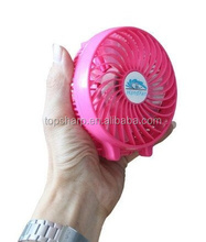 18650 lithium battery powered Handheld rechargeable portable mini battery fan for outdoor activities