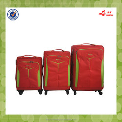 Nylon material luggage universal wheel 3 pcs set travel style Nylon Luggage