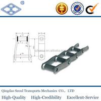 pitch57.15 long pitch OEM/ODM heavy duty steel pintle industrial malleable cast iron chain 667K