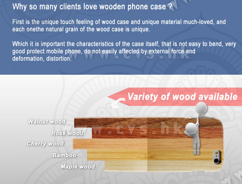 Wooden For iPhone Case Made in China Manufacturer Mobile Accessory