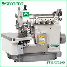 EXT 5200 High speed upper - lower different feed flat bed machinery, 2 needle 4 thread overlock stitch industrial sewing machine