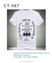 2015 new arrive wholesale men fashionable round neck 100% cotton cheap t-shirt