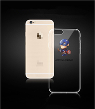 Ultra slim thin TPU case for apple iphone 6 plus 5s 4s 5c pc hard phone case with cartoon