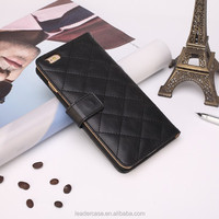 Simple universal pu leather snap-on mobile phone case for iphone