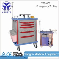 YFS-001 Hospital Furniture Medical Equipment emergency trolley equipment