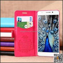 Fabricação atacado colorido couro caixa do telefone móvel para Huawei glória 6