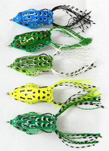 Frog bait crank popin frog lure with one treble hook topwater ray frog 5CM 8G soft lure Plastic Top Water HENGJIA Fishing Lure