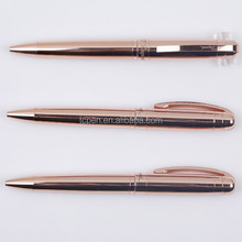 Rose Gold Metal Ball Pen for Business or Wedding Gift