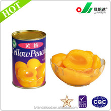 canned fruit, canned yellow peach in l/s wholesale canned food