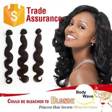 black color body wave virgin remy hair brazilian long human hair china