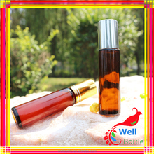 VZ04 6ML Wholesale Colored Metal Printing With Aluminium Cap Glass Refill Empty Perfume Atomizer Aluminium Roll On Bottle