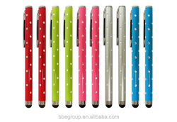 Bling Metal Stylus Touch Pen Screen Pen For iPhone 4 4S 5 5S 6 For Samsung Galaxy S3 S4 Note2 Note3