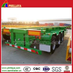 Low Price Container 40 Feet Trailer / Flatbed Trailer / Skeleton Semi Trailer For Choose