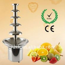 high grade hotel equipment and restaurant 5 tiers stainless steel chocolate fountain