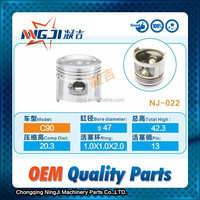 Motorcycle Engine Parts Chinese Motorcycle Parts Engine Piston set for Honda C90 47mm diameter