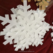 HOT SALE Custom large snowflake, acrylic snowflakes for Chirstmas decoration