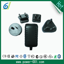 wall mount exchangeable plugs with US UK EU AU 5V 3A charger adapter