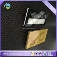 customize transparent acrylic plastic double layers pin name badge