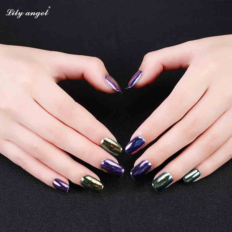 Qsa-110 Lilyangel 12 Colors Nail Art Diy Decoration Chrome Powder ...