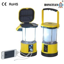 portable 2w rechargeable led solar camping lantern