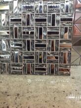 Stainless Steel/ Glass Mosaic Tile 12 x 12 Sheet metallic glass mosaic tile