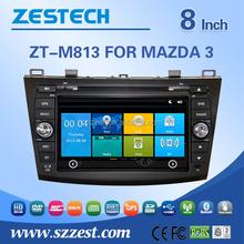 ZESTECH hot sale auto multimedia Car audio for Mazda 3 car audio player with TV/AM/FM/Bluetooth/USB/SD CARD/GPS
