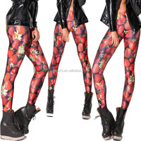 Wholesale Women New Pattern 3D Print Stretchy Sex Sublimation Pantyhose Leggings Tights Pants