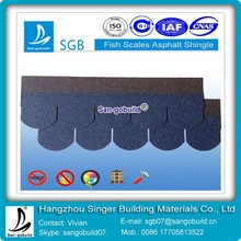 Colored Fish-scale Asphalt Roofing Shingles For Circular Type Cheap Shingle