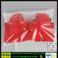plastic bra packing zipper slider bag,zipper bag for underwear packaging bag