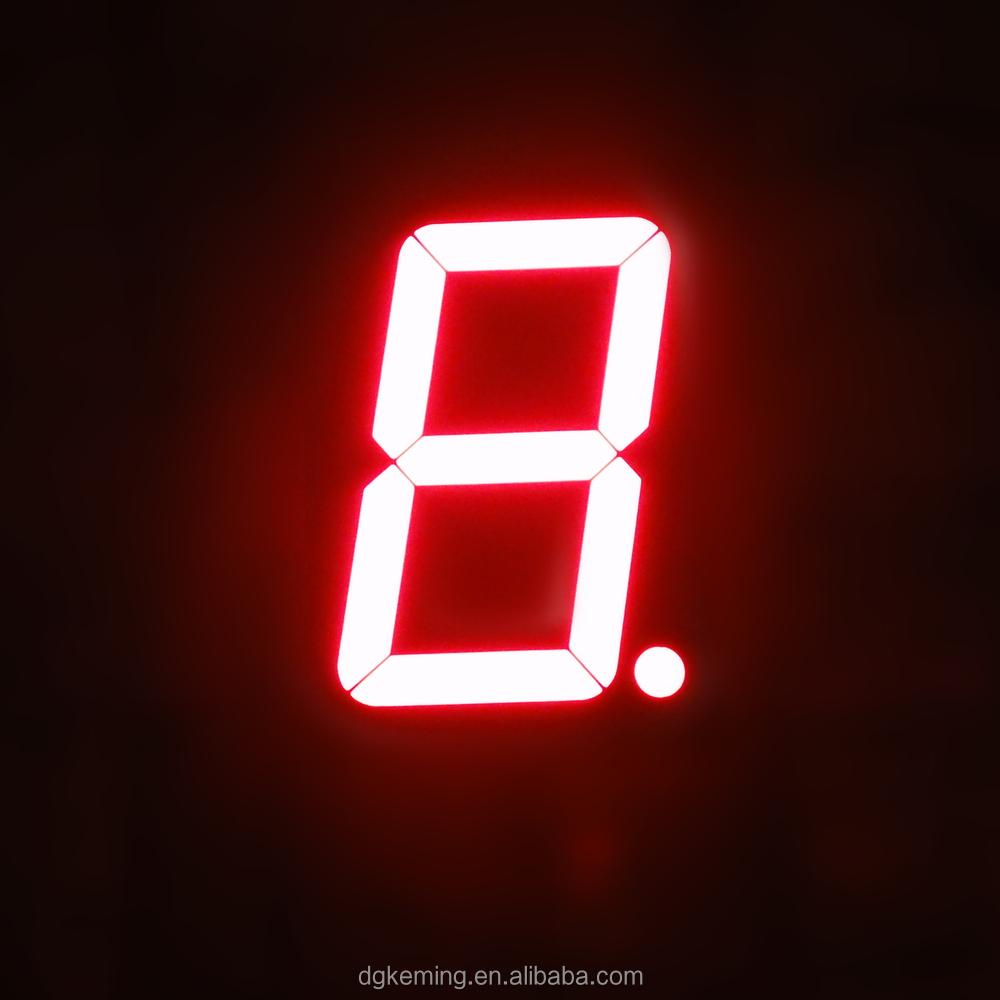 Large 3 inch 1 digit display ultra red single led 7 segment led display 3