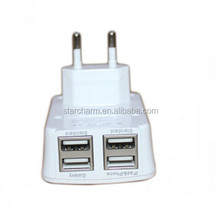 4 Ports USB Wall Home Travel 5v 4a Charger Adapter for mobile