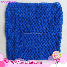 2015 Wholesale royal blue 6''inch wholesale crochet tube top lined tutu top