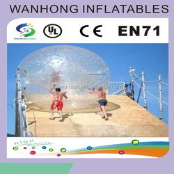 Fashionable colorful inflatable rolling ball ,durable water wheel for fun,inflatable roller