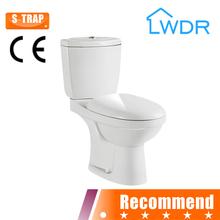 water closet sanitaryware two piece bathroom ceramic toilet W8006
