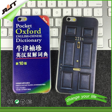 For iphone generation 4 5 6 plus 3D book dictionary custom made plastic phone case