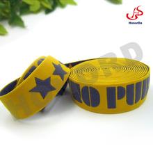 4cm width Bossed Stars yellow jacquard elastic underwear waistband soft hand feeling