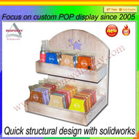 retail store wood display stand/colorful wood shelf/counter display stand
