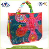 2014 PP non woven bag laminated reusable shopping tote