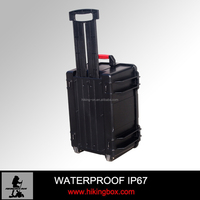 Factory price Hard ABS Plastic equipment case / waterproof large instrument case with wheeles No.HTC021-2