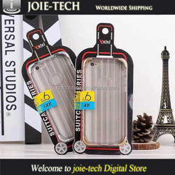 2015 hot fashion soft tpu luggage carrier phone case for iphone 6
