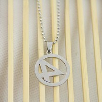 Bling SuperHero Fantastic Four Jewelry Stainless Steel Chain Pendant Necklace N-133