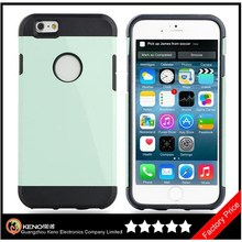 Keno Stylish Mobile Phone Back Cover for iPhone 6, Slim Armor PC+Silicon 2 In 1 Cover Case for iPhone 6 4.7 Inch